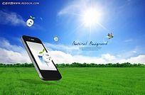 手机环保PSD素材