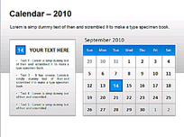 2010年9月日历PPT模板