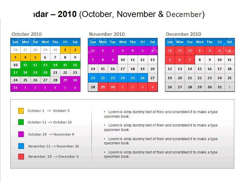 彩色日历表格PPT模板素材免费下载 编号4548226 红动网