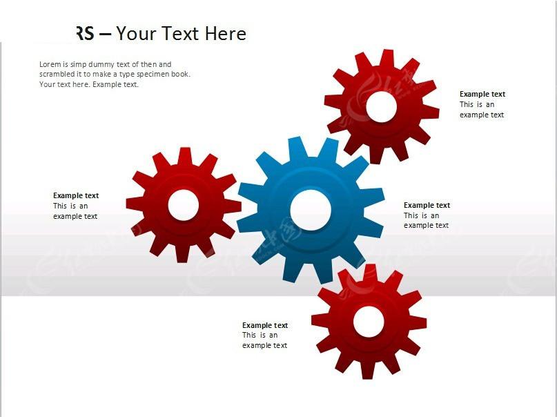 齿轮商务ppt模板免费下载_表格图标素材图片