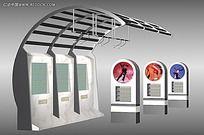 公交车站3D素材