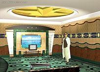 酒店大厅3D素材