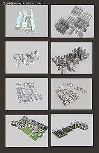 楼房建设3D素材