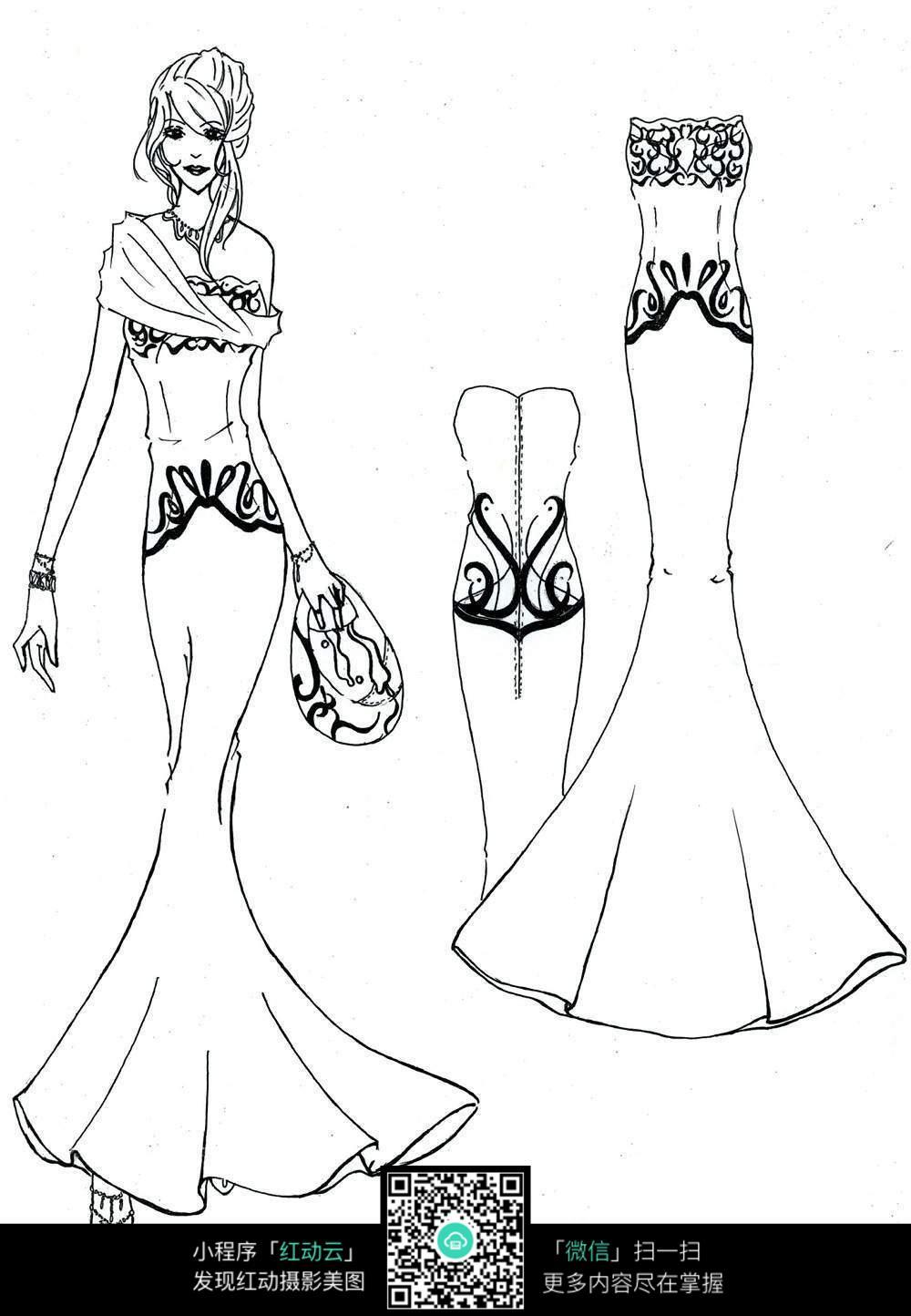 服装及人物时装手绘