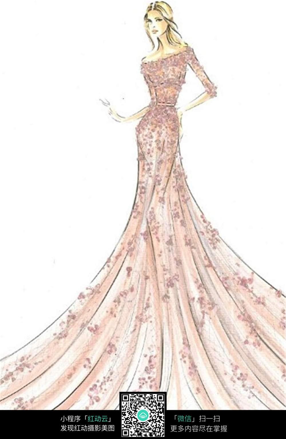 服装设计手绘手稿图片