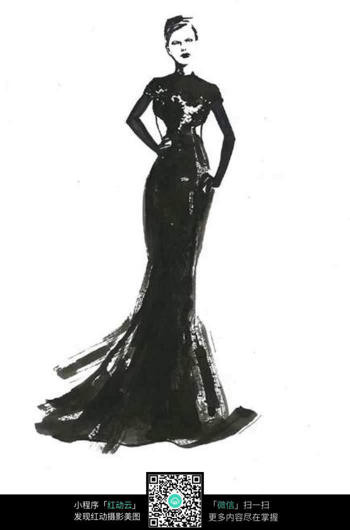 服装设计手绘图图片
