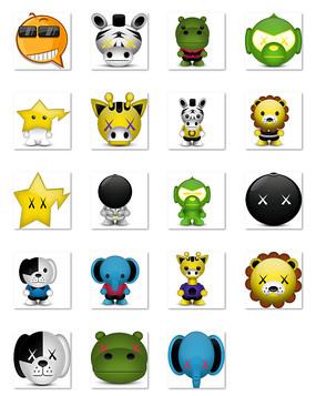 卡通动物表情符号