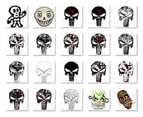 卡通骷髅头图标