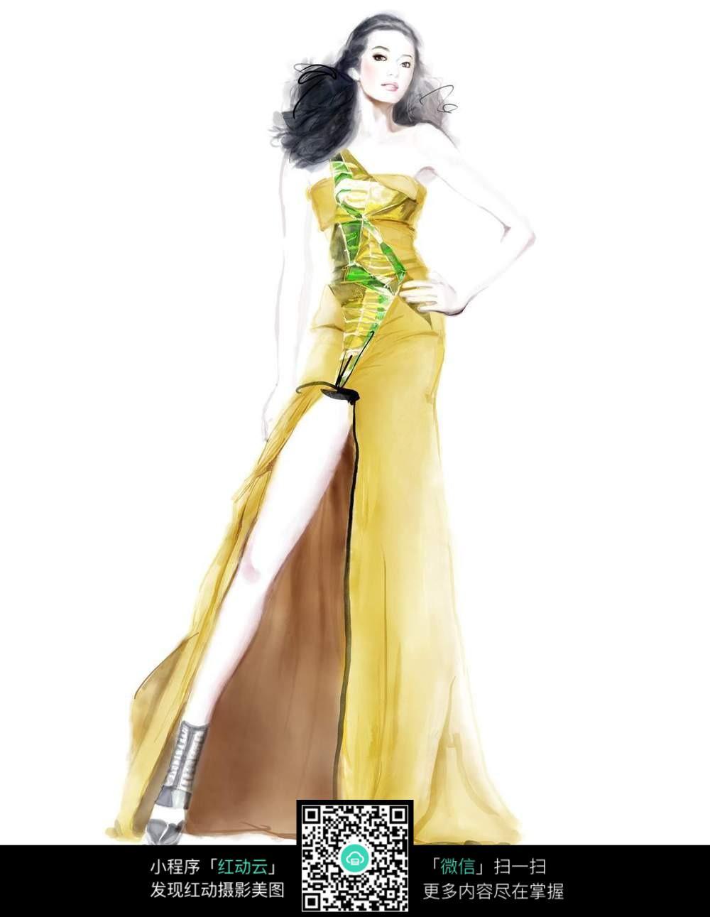 漫画人物服装手绘图