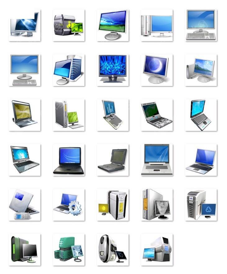 台式笔记本电脑图标