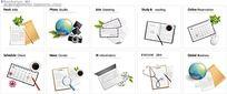 办公用品矢量图设计