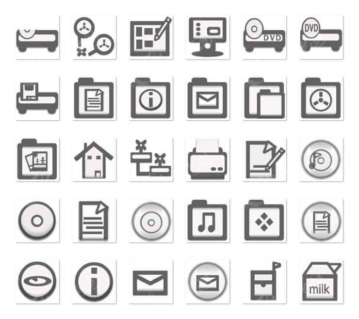 灰色小图标设计其他素材免费下载 编号3889756 红动网图片