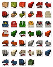 卡通集装箱符号