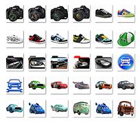 卡通汽车相机符号