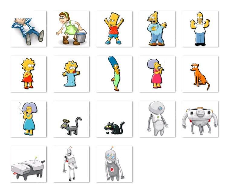 卡通人物各种造型