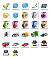 汽车图标网页设计png格式素材