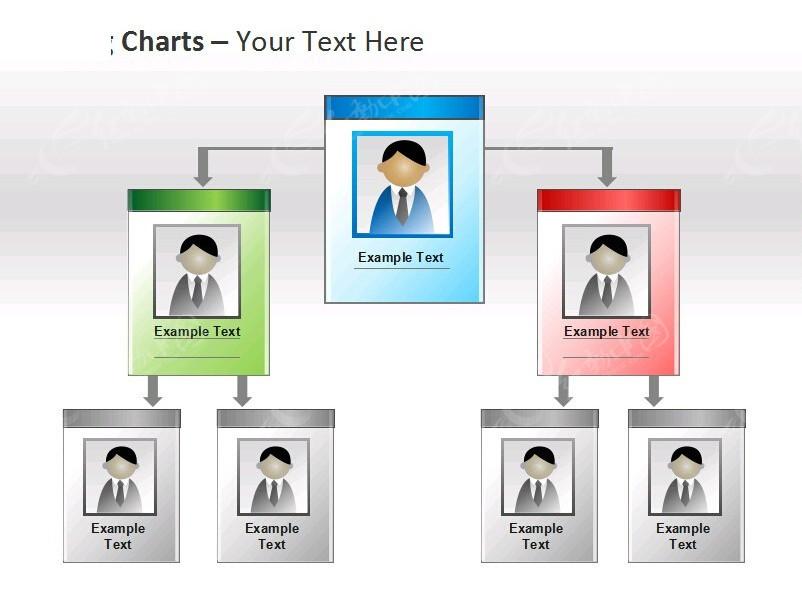人事结构类文件夹图标幻灯片