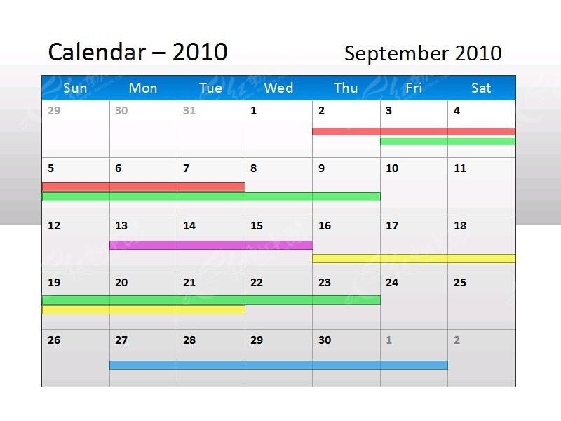 日历图表ppt模板免费下载_表格图标素材图片
