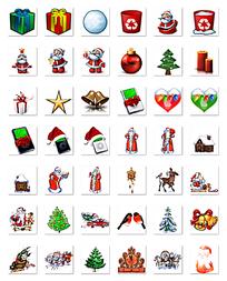 圣诞节创意图标png格式设计
