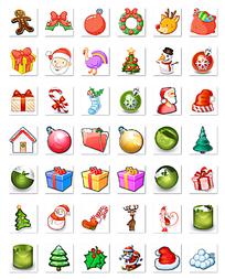 圣诞节创意图标png格式素材