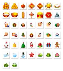 圣诞节简洁图标png格式设计图