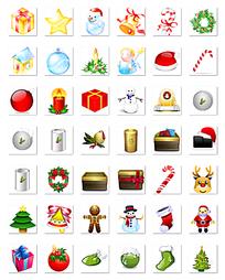 圣诞节网页图标png格式