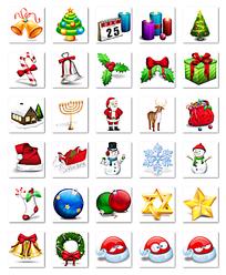 圣诞节网页图标设计模板