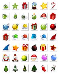 圣诞节网页图标设计图
