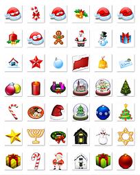圣诞节小图标png格式设计模板