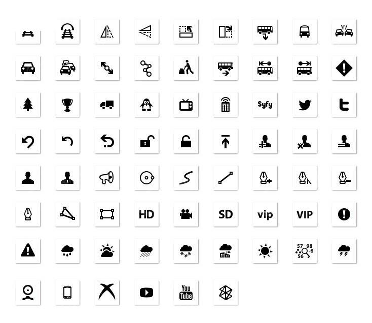 网站网页常用小图标png格式设计图片