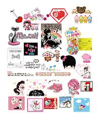 卡通粉色网页图像