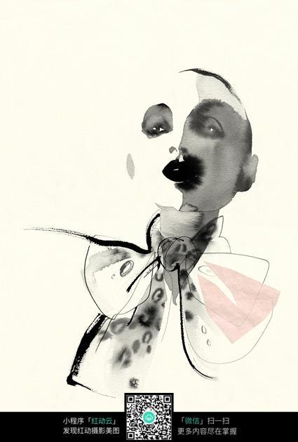 创意人物抽象手绘效果图图片