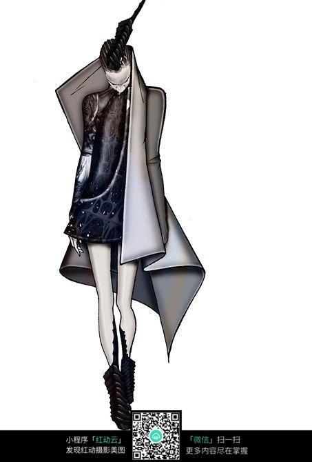 简洁服装设计手绘效果图