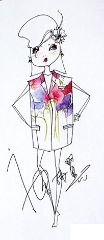 女人手绘插画