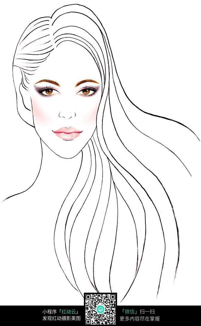 图片素材 漫画插画 其他 漂亮女人的头像  请您分享: 素材描述:红动网