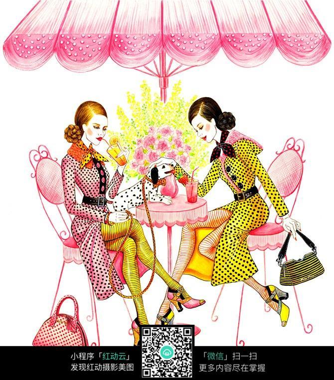 下午茶聚会的女人们