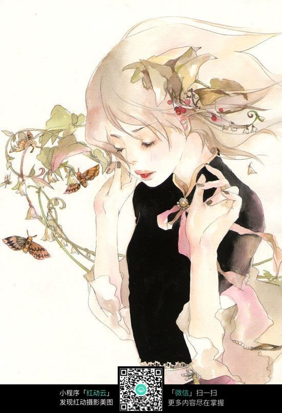 油彩手绘美女图