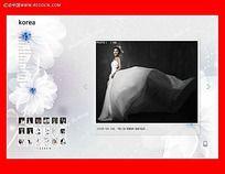 FLASH婚纱写真图片轮播设计模板下载