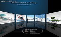 FLASH全球企业网页设计图片轮播设计模板下载