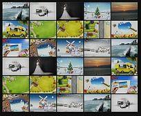 相片平铺背景墙FLASH图片轮播设计