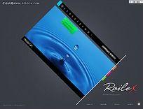 质感水滴网页设计