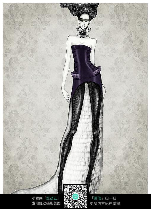 手绘服装设计图