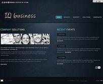 简洁欧美FLASH网站网页模板