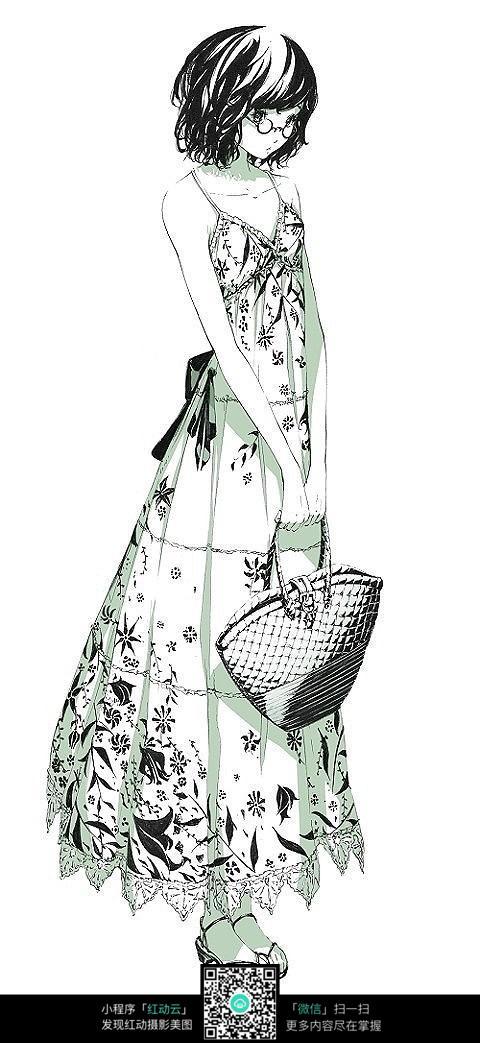 连衣裙服装设计手绘