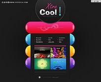 欧美彩色FLASH网站网页模板