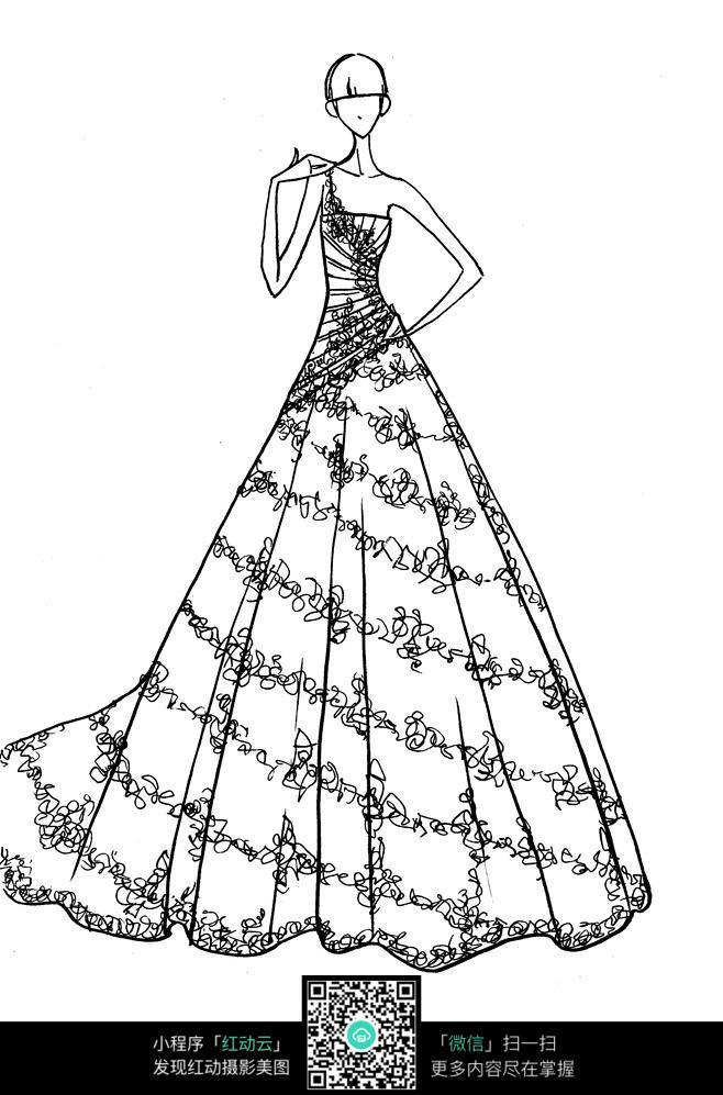 时尚礼服线稿设计