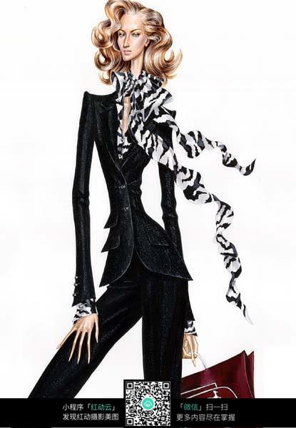 时尚女士西装设计稿