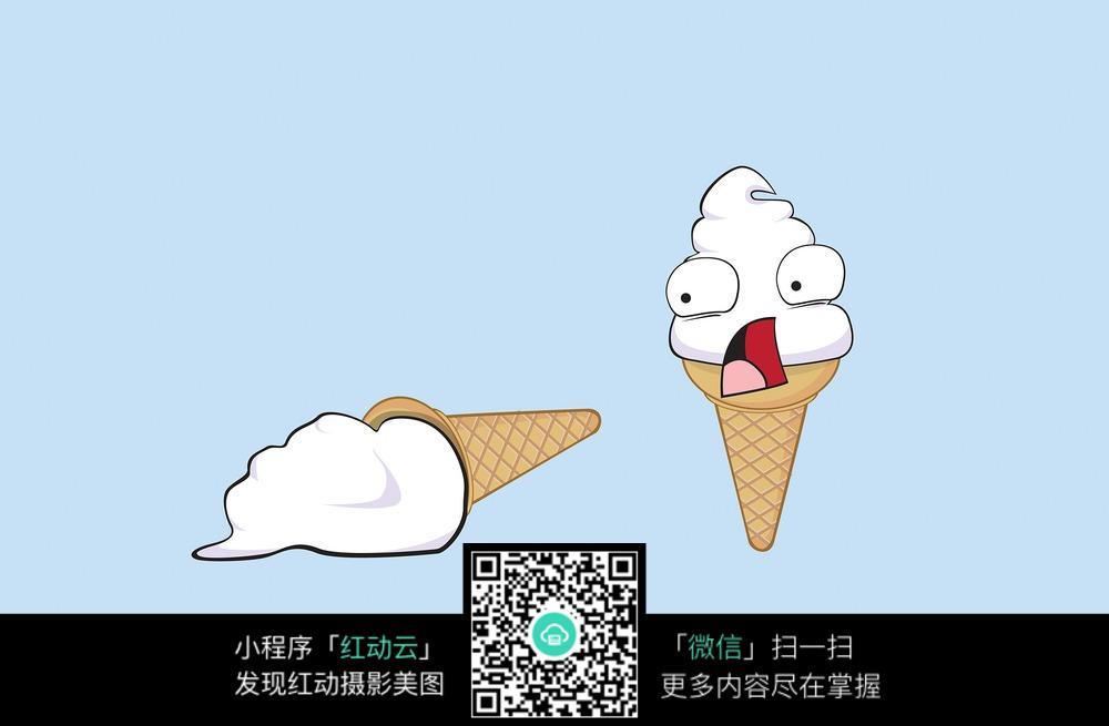甜筒冰淇淋简笔画图片