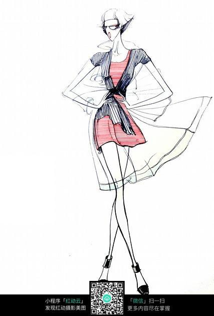 夏季裙子时装设计手绘