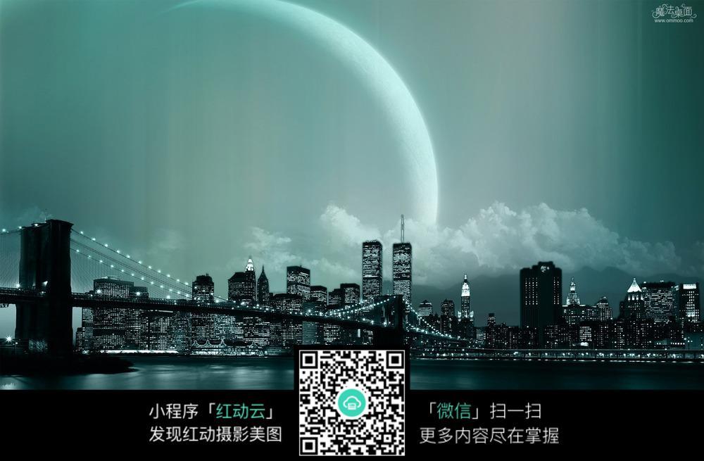 夜晚城市背景图片